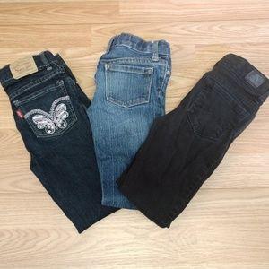 Girls size 6 straight leg jeans